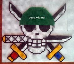 One Piece skull hama perler beads by Deco.Kdo.Nat