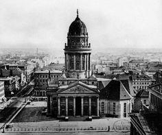 Gendarmenmarkt 1865:Blick vom Franzoesischem Turm nach Sueden.