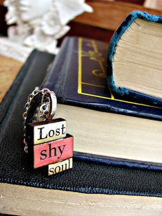 Message Pendants Lost  Shy  Soul by RebeccasWhims on Etsy, $15.00