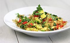 Pretty easy recipe... made it tonight. Its a wonderful summer quinoa salad. Make sure to top with cilantro and avacado... it really makes it!
