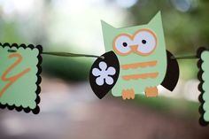 Cute Hoot Baby Shower - Owl Theme Banner You choose colors and saying