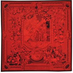 Hand-woven Square Overdyed Aubusson Tapestri Area Rug