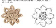 PATRONES - CROCHET - GANCHILLO - GRAFICOS: GRANNY - FLORES TEJIDAS A GANCHILLO