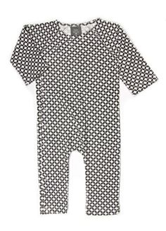 Kate Quinn Organic Unisex-baby Kimono Jumpsuit, 6-9M (Modern Calico)