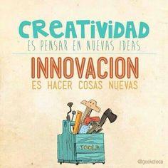 #Innovacion Tiene que ver con replantear las ideas existentes de una manera excepcional y diferente.