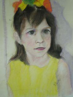 Portrait of Marcella pastel on high rag paper