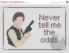 Han Solo Star Wars quote (Printable PDF Pattern). $2.25, via Etsy.