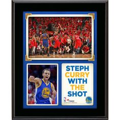 Stephen Curry Golden State Warriors Fanatics Authentic 10.5'' x 13'' Shot on Anthony Davis Sublimated Plaque