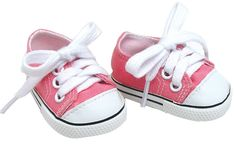 Amazon.com: 18 Inch Pink Doll Shoes for American Girl Dolls, Pale Pink Doll Sneakers: Toys & Games $6.50