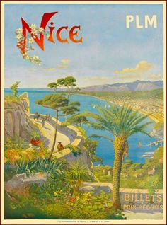 A SLICE IN TIME Nice Beach France French Riviera European Europe Vintage Travel advertisement Art Poster Print Poster measures 10 x inches Vintage Travel Posters, Vintage Postcards, Art Deco Posters, Poster Prints, Vintage Advertisements, Vintage Ads, Travel Ads, Nice Travel, Nice
