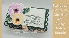 Dice Box, Stampin Up Catalog, Paper Packaging, Treat Holder, Stamping Up Cards, Flower Cards, Cute Cards, Pansies, Paper Design