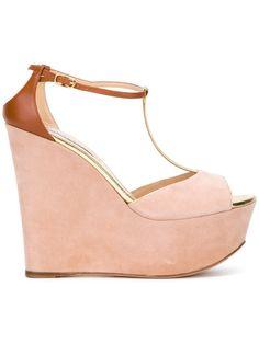 CASADEI T-bar wedges. #casadei #shoes #wedges