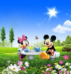 Minnie and Mickey Mouse Mickey Mouse Pictures, Minnie Mouse Pictures, Mickey Mouse And Friends, Disney Pictures, Disney Collage, Walt Disney, Disney Love, Mickey Mouse Wallpaper, Disney Wallpaper