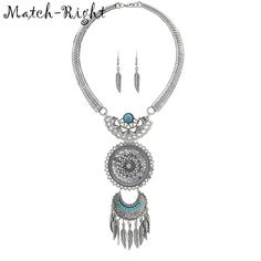 3.49$  Watch now - Match-Right Women Necklace Vintage Statement Necklaces Pendants Bohemia Jewelry Leaves Necklace Women AccessoriesNL582   #magazineonlinebeautiful