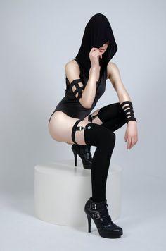 Suspender Thigh Strap Garter Hipster, Lingerie, Bondage Inspired, 90s Gothic stye by MALICE