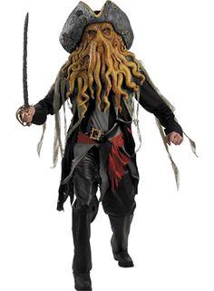 Davy Jones Fancy Dress Costume - Pirates of the Caribbean - Halloween Costumes at Escapade™ UK Halloween Costumes For Sale, Costumes For Teens, Halloween Fashion, Boy Costumes, Adult Costumes, Cosplay Costumes, Halloween Ideas, Pirate Costumes, Halloween Stuff