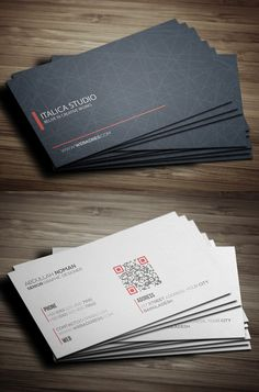 Modern Business Card Template #businesscards #psdtemplates #visitingcard #businesscardtemplate