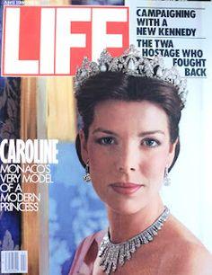Princess Caroline of Monaco, on a Life magazine cover from November 1985.