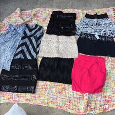 Lot of nice clothing Cute skirts, a maxi, and a shirt Skirts Mini