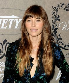 BEVERLY HILLS, CA - OCTOBER Actress Jessica Biel arrives at Variety's Power of Women presented by Lifetime at the Beverly Wilshire Hotel on October 2012 in Beverly Hills, California. (Photo by Kevin Winter/Getty Images) Jessica Biel, Hair Color Trend, Hot Hair Colors, Hair Colour, Hairstyles With Bangs, Pretty Hairstyles, Medium Hairstyles, Wedding Hairstyles, Ombre Hair