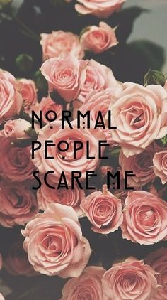 American Horror story {normal people scare me}