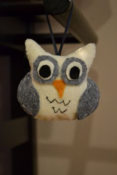 Courtney Owl Christmas Ornament by threadowl on Etsy, $7.00.  Order yours today!