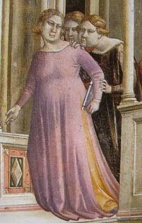 Taddeo Gaddi, Presentation of Mary at the Temple, Italian Outfits, Italian Fashion, Italian Clothing, Medieval Art, Medieval Dress, Giorgio Vasari, Renaissance Paintings, Italian Women, Italian Renaissance