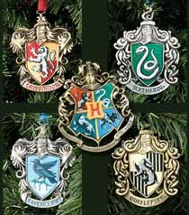 Hogwarts™ Tree Ornaments  for our flat's nerdy Christmas tree! $55