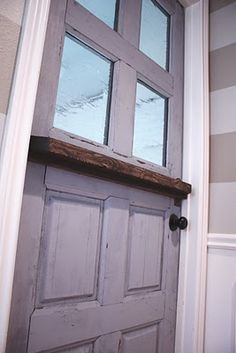 How to make a door into a dutch door! Holy-holy-holy cow! Totally doing this when we redo our mudroom!!