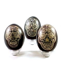 Pysanky Easter Egg: Skull. $22.00, via Etsy. SO cool! Mash-up of my Eastern European heritage + love of Latino culture.