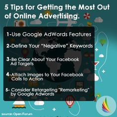 5 Tips of getting the most out of online advertising