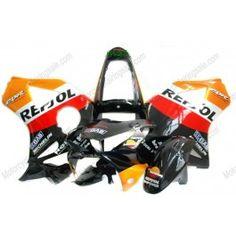 Honda CBR900RR 954 2002-2003 Injection ABS Fairing - Repsol - Orange/Black/Red | $669.00