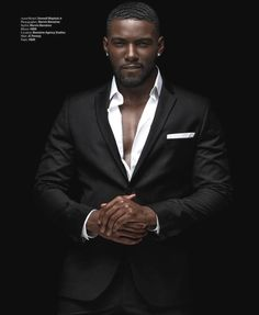 "Savage"" Donny Savage photographed by Marvin at uys Fine Black Men, Gorgeous Black Men, Handsome Black Men, Fine Men, Beautiful Men, Black Men In Suits, Black Man, Mens Suits, Black Guys"