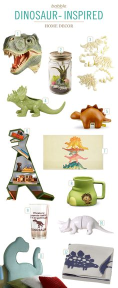 Our kids LOVE dinosaurs, so we're always on the lookout for tasteful ways to incorporate a few into our home decor. These dinosaur-themed ideas are fun for kids rooms, and throughout the house.