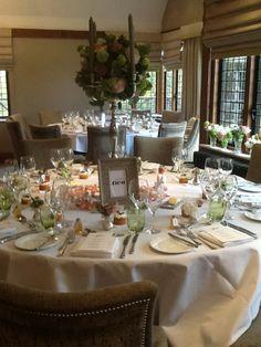 Gorgeous wedding décor at Langshott Manor
