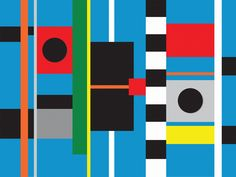 Abstract Geometric Painting: Untitled #43 :http://www.brycehudson.com/geometric-abstraction-painting-untitled-43-bryce-hudson/