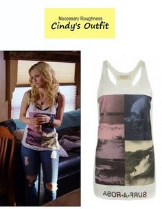"""On the blog: Cindy Luck's (Johanna Braddy) collage graphic print tank 