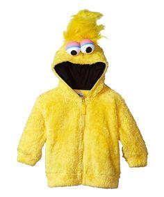 Big Bird Faux Fur Hoodie - Toddler & Kids