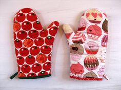herzekleid: Weihnachtsideen: Backhandschuh und Topflappen