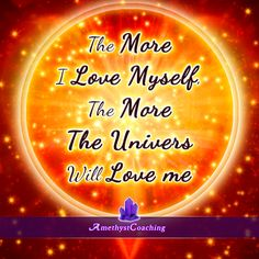 <3 <3 <3 Self Love  Affirmation week <3 <3 <3  Today's Centering Thought: The  More I Love Myself, The More The Univers Will Love Me <3 #affirmation #coaching It is not enough just to repeat words, while repeating the affirmation, feel and believe that the situation is already real. This will put more energy into the affirmation.