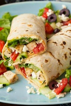 Greek+Grilled+Chicken+&+Hummus+Wrap