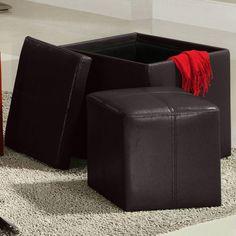 Homelegance Ladd Storage Ottoman Cube