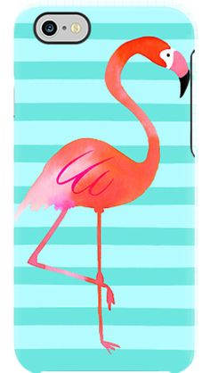 Flamingo Stripes case by Margaret Berg