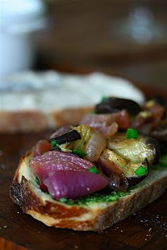 Roasted Eggplant Sandwiches with White Bean Spread