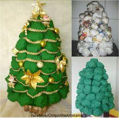 Árvore de Natal Feita de Jornal  https://www.facebook.com/pages/Chiquinha-Artesanato/345067182280566