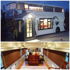Converted double decker bus Converted Bus, Double Decker Bus, Tiny Living, Motorhome, Best Funny Pictures, Google Images, Spa, Mansions, House Styles