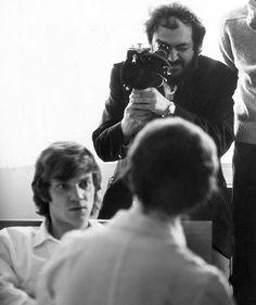 Stanley Kubrick, Malcolm McDowell - A Clockwork Orange set