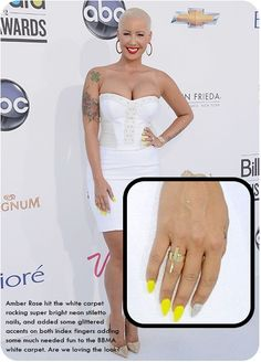 Celebrity Nails - Amber Rose    Neon nail polish ;)  (www.neonail.pl www.facebook.pl/neonailpl)