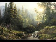 Forest Sunlight | Landscape Painting Demo - YouTube