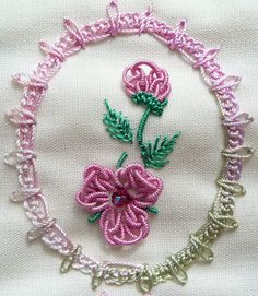Celtic Rose, great practice for making perfect bullion stitches. Lacy Chain border was also an idea for a frame http://rosaliewakefield-millefiori.blogspot.com.au/2015_03_01_archive.html